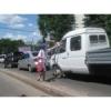 Раздача листовок по автомобильным пробкам Донецк