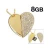 """Флешка-подвеска """"Сердце"""" gold 8 gb"""