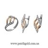 Изделия из серебра 925 пробы с золотыми вставками 375 пробы.