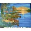 "Картина  ""Пруд"" холст, масло, 40х50 см."