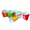 Картонная упаковка для ресторанов ФАСТ-ФУД:  для картошки фри,  гамбургеров,   упаковка для вермишели, роллов