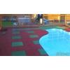 Резиновая плитка для обустройства детских,открытых и закрытых спортивных площадок