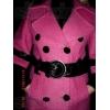 Продается женское розовое пальто б/у