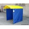 Торговая палатка синяя, желтая крыша